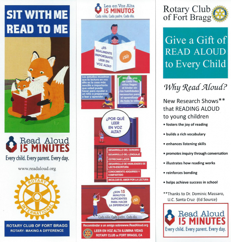 Rotary participates in the Read Aloud program for young children