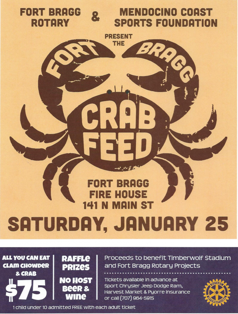 Our annual Crab Feed helps fund many of our projects and scholarships